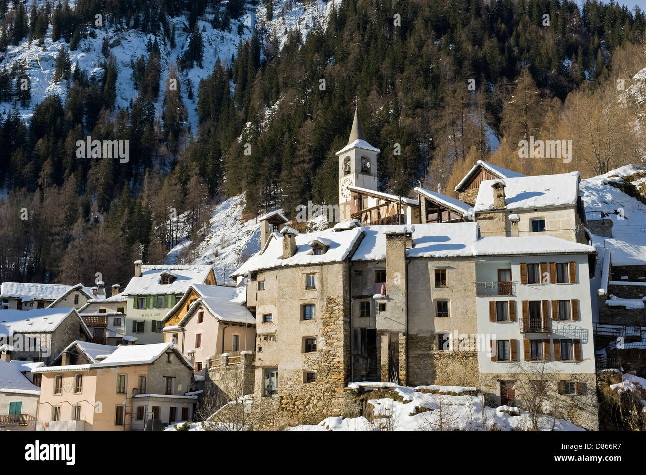 Switzerland Canton Ticino Fusio Stock Photo