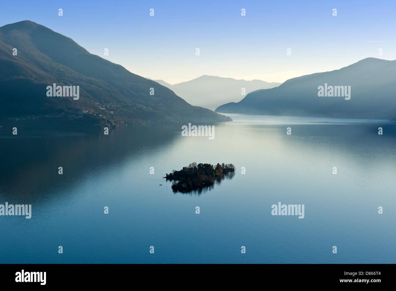 Switzerland Canton Ticino Brissago Island Stock Photo