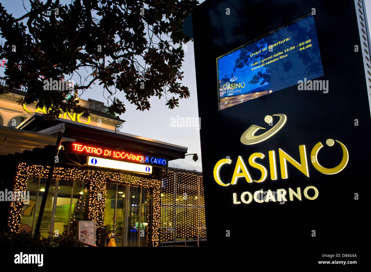 Switzerland, Canton Ticino, Locarno, casinò Stock Photo