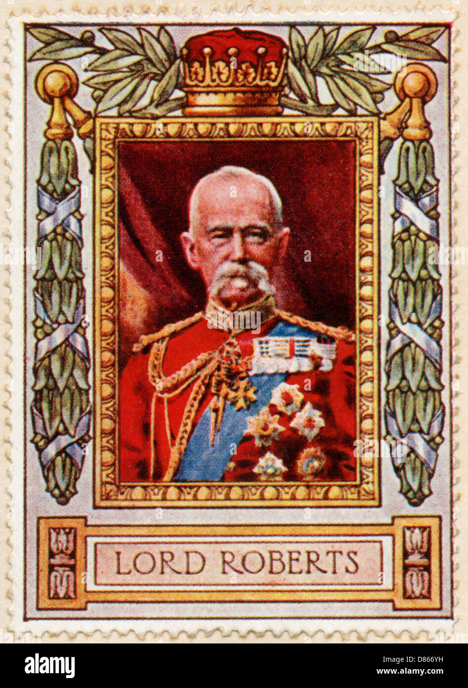 Lord Roberts Stamp - Stock Image