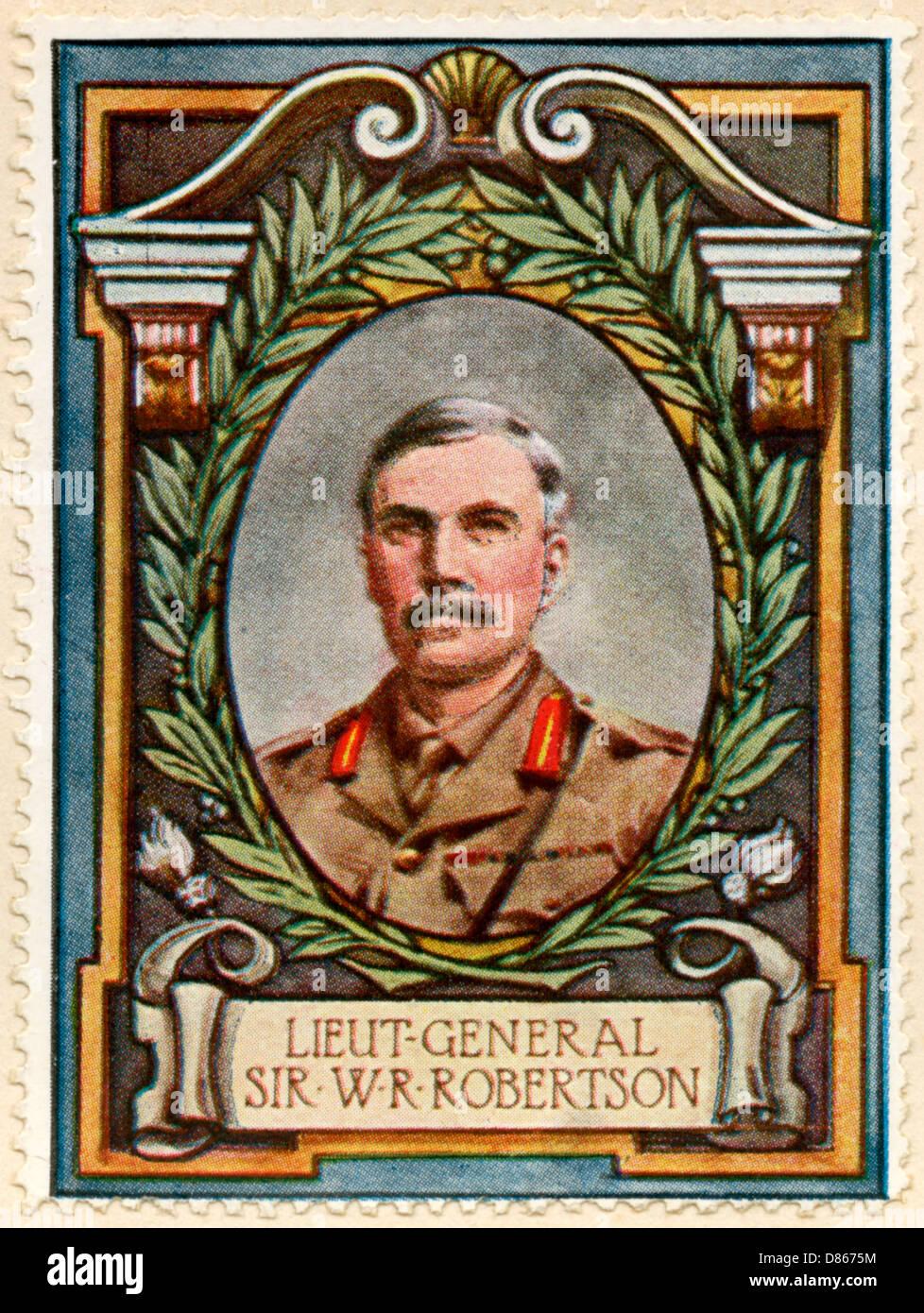 Field Marshal Sir Robertson Stamp Stock Photo