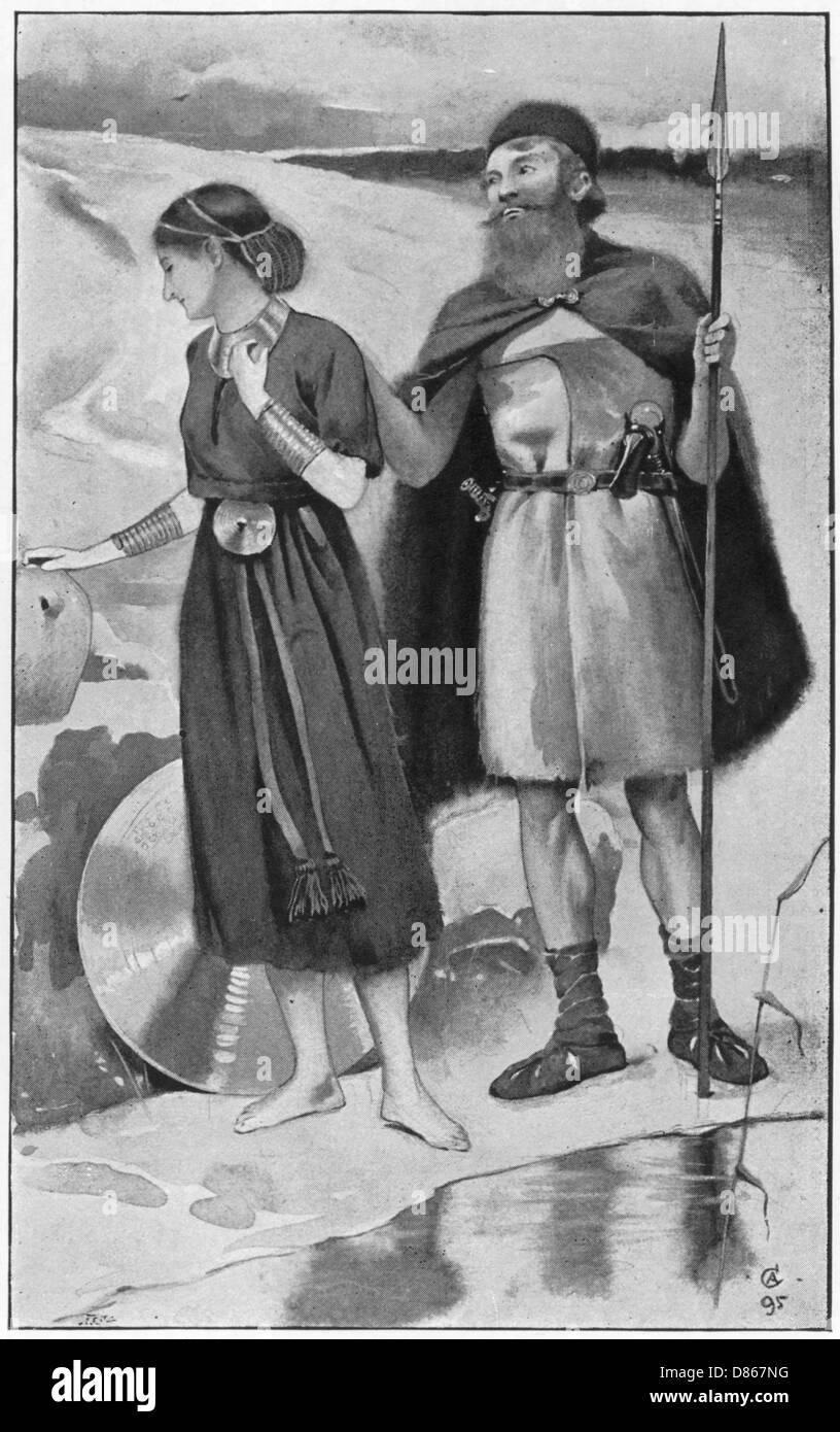 Bronze Age Courtship  Aldin - Stock Image