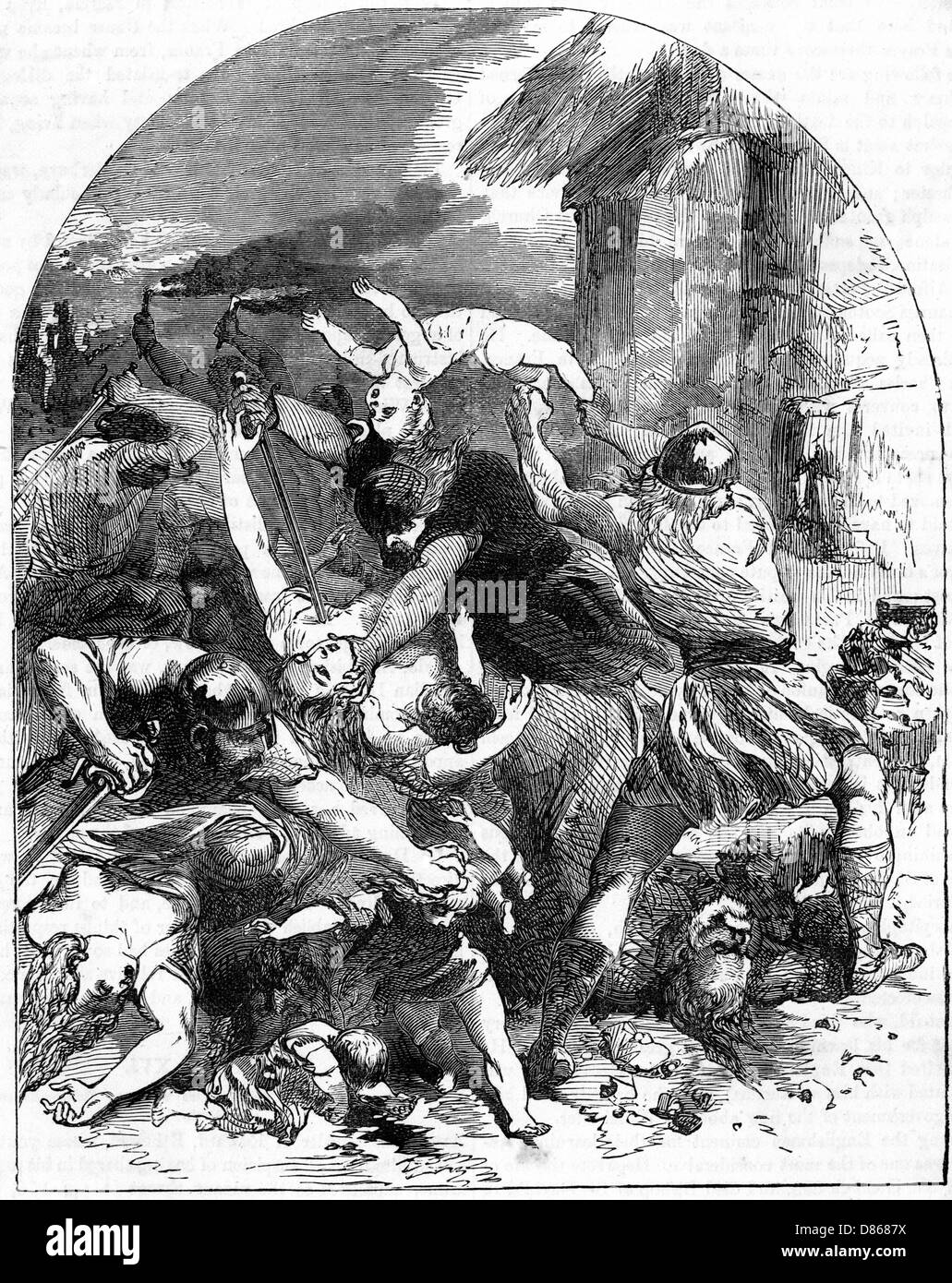 St Brices Day Massacre - Stock Image