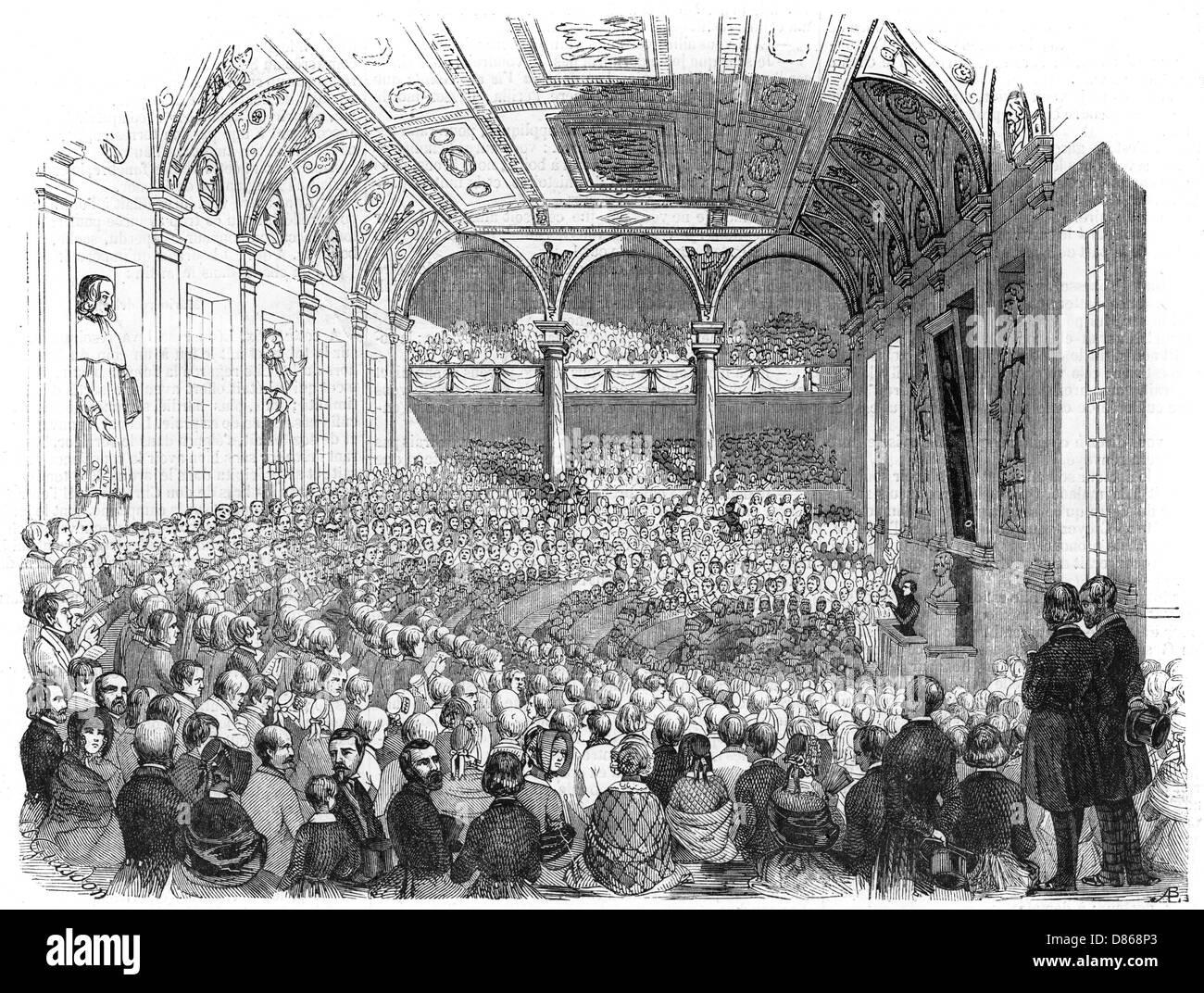 Concert At The Sorbonne  Paris 1843 - Stock Image