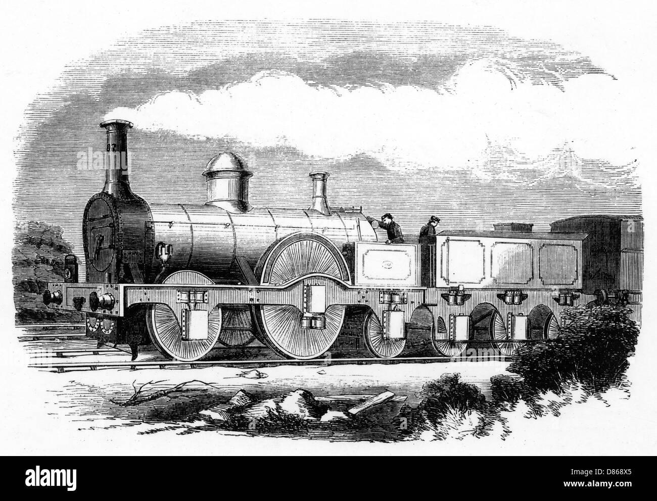 Mconnells Express Locomotive  1852. - Stock Image