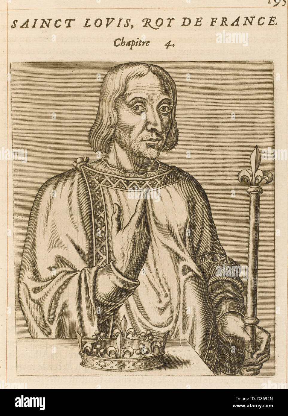 Louis Ix  French Royalty - Stock Image