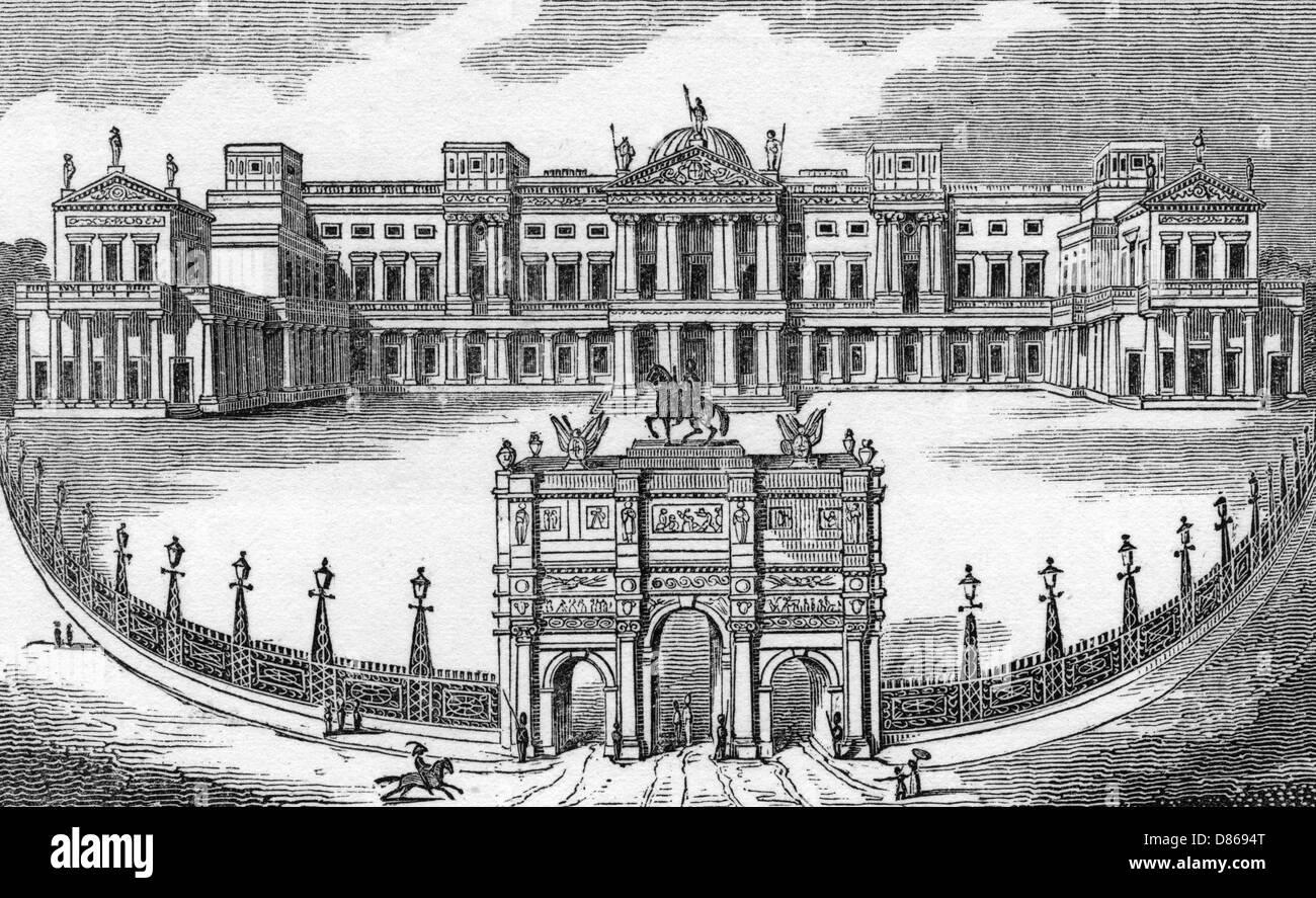 Buckingham House  1830s - Stock Image