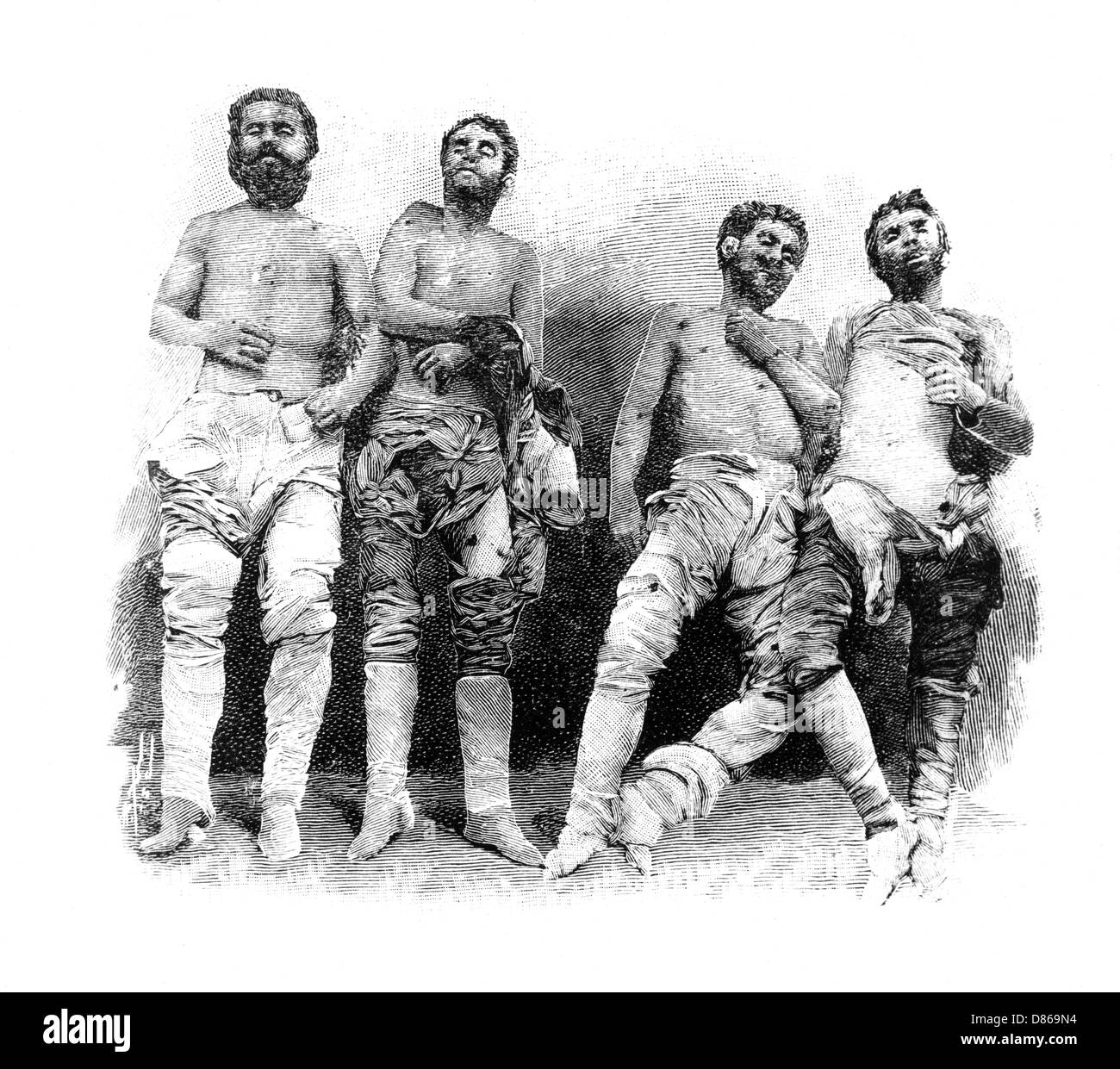 The Bodies Of Greek Bandits - Stock Image