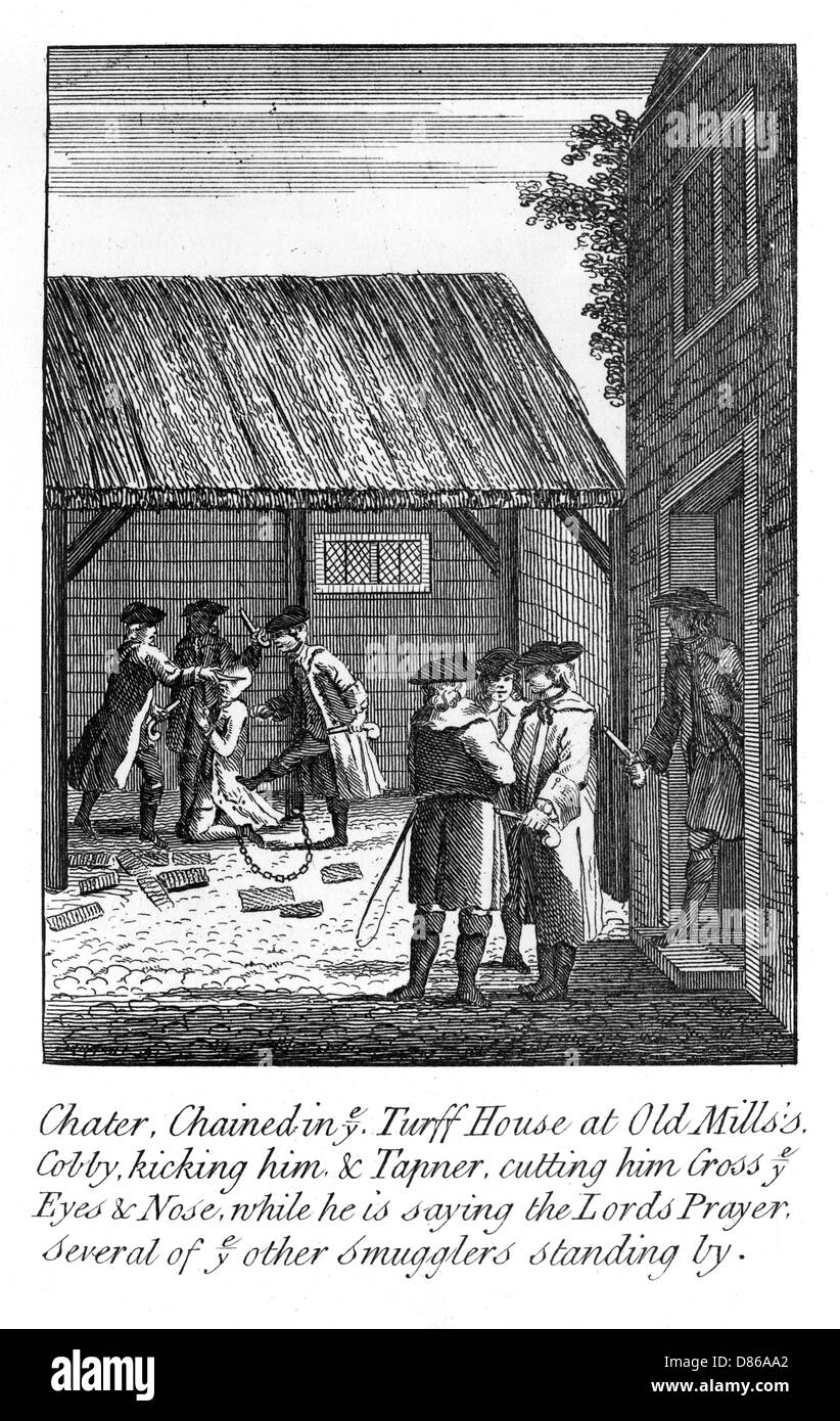 Sussex Smugglers C18th - Stock Image