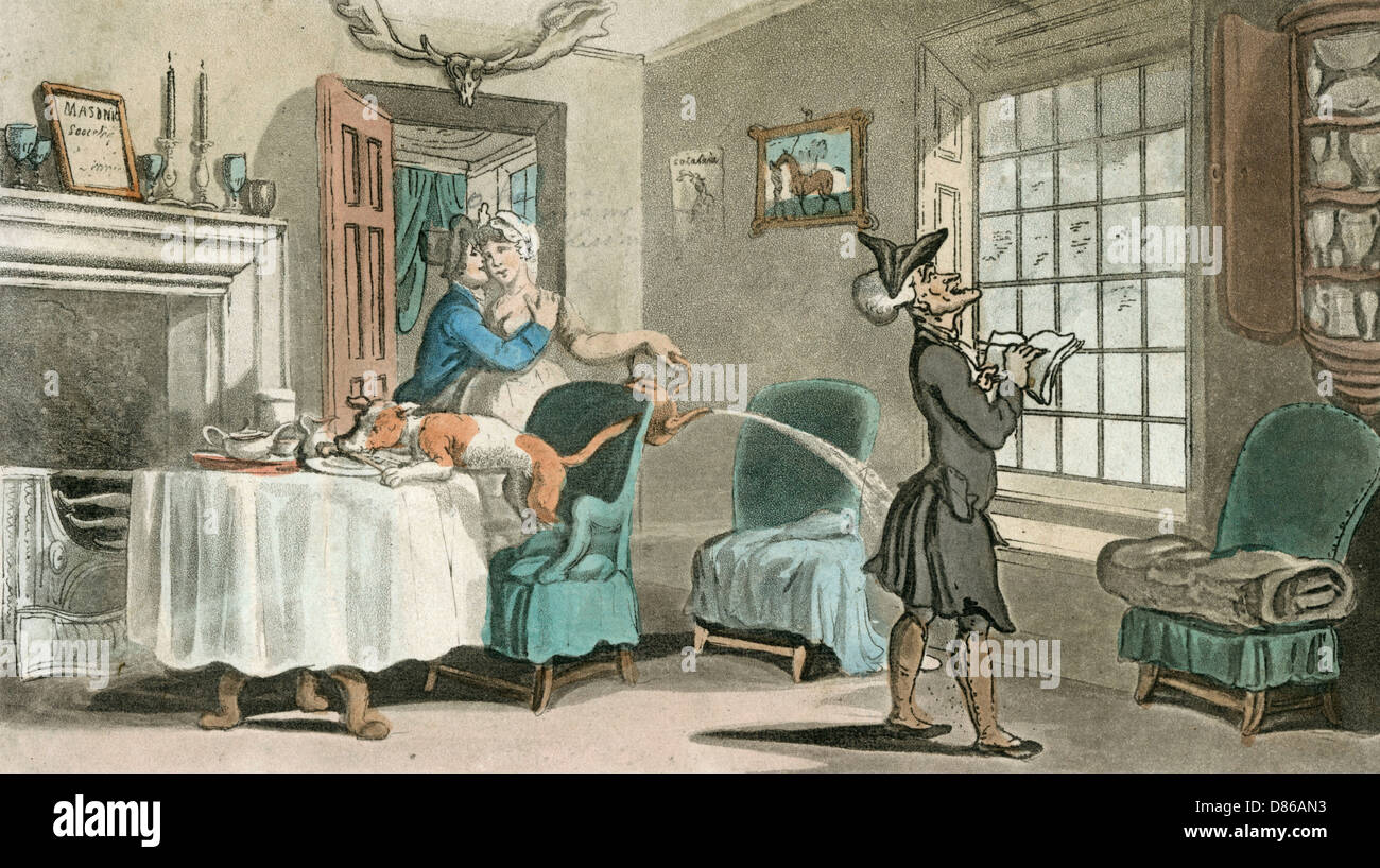 Dr Syntax In A Country Inn - Stock Image