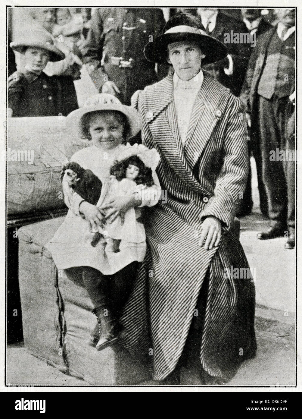 Little Girl Rescued From The Lusitania 1915 - Stock Image