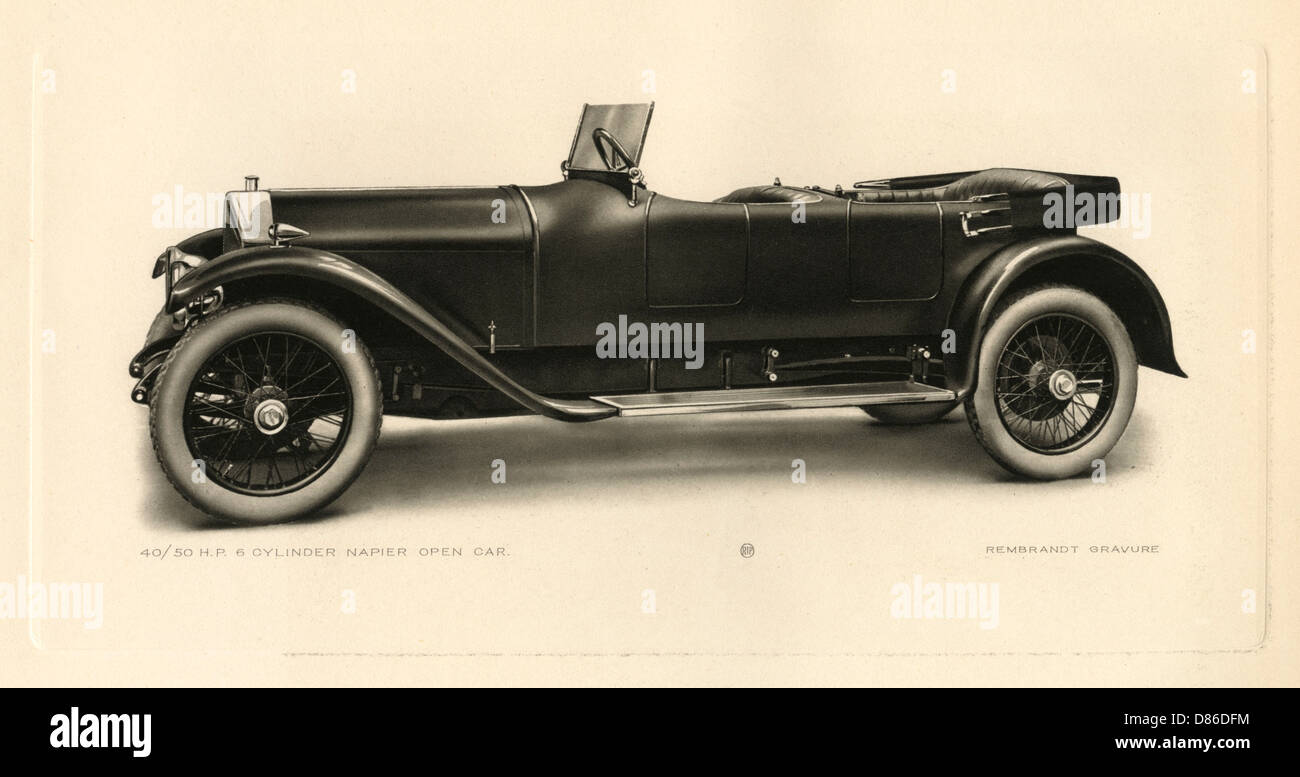 The Last Model Car Built By The Napier And Son Company - Stock Image
