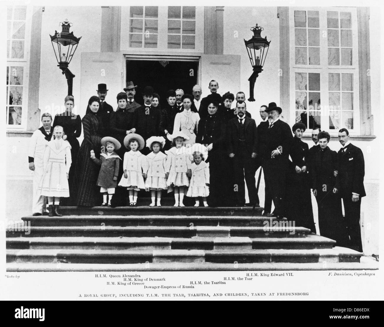 Nicolas Ii Tsar Of Russia With Other European Royalty - Stock Image