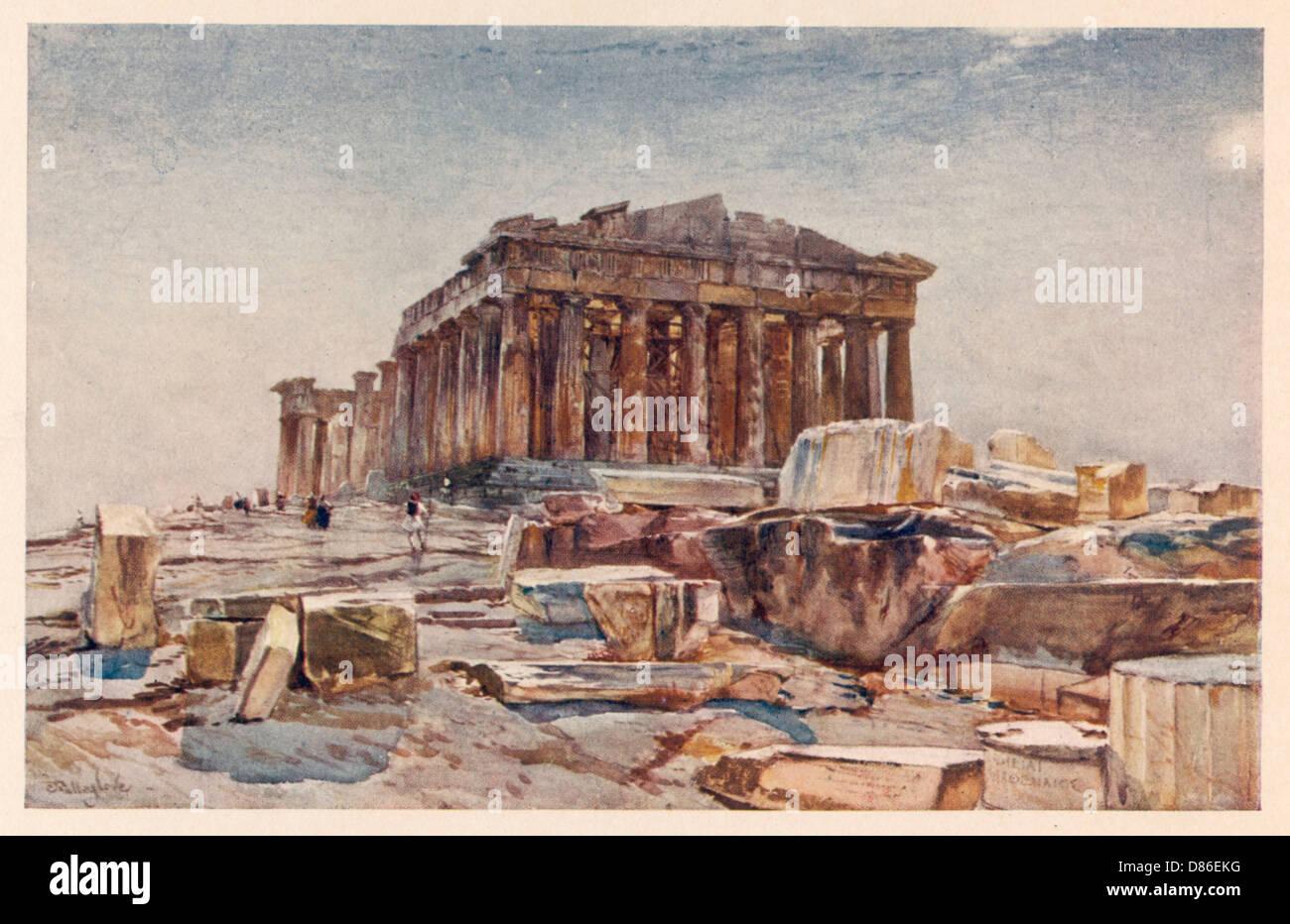 Greece Athens Acropolis Stock Photo