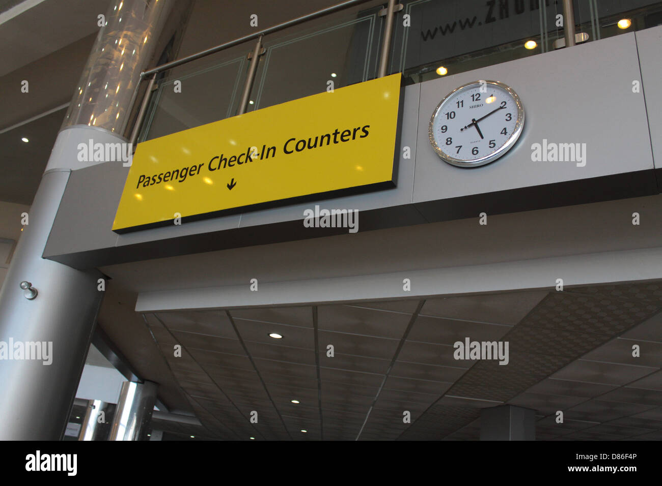 Passenger Check-in Counter point at Lagos Airport. - Stock Image