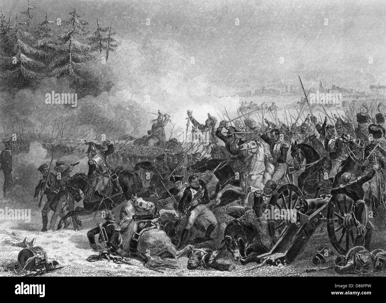 Battle Of Eylau Charge Of The Cuirassiers Stock Photo