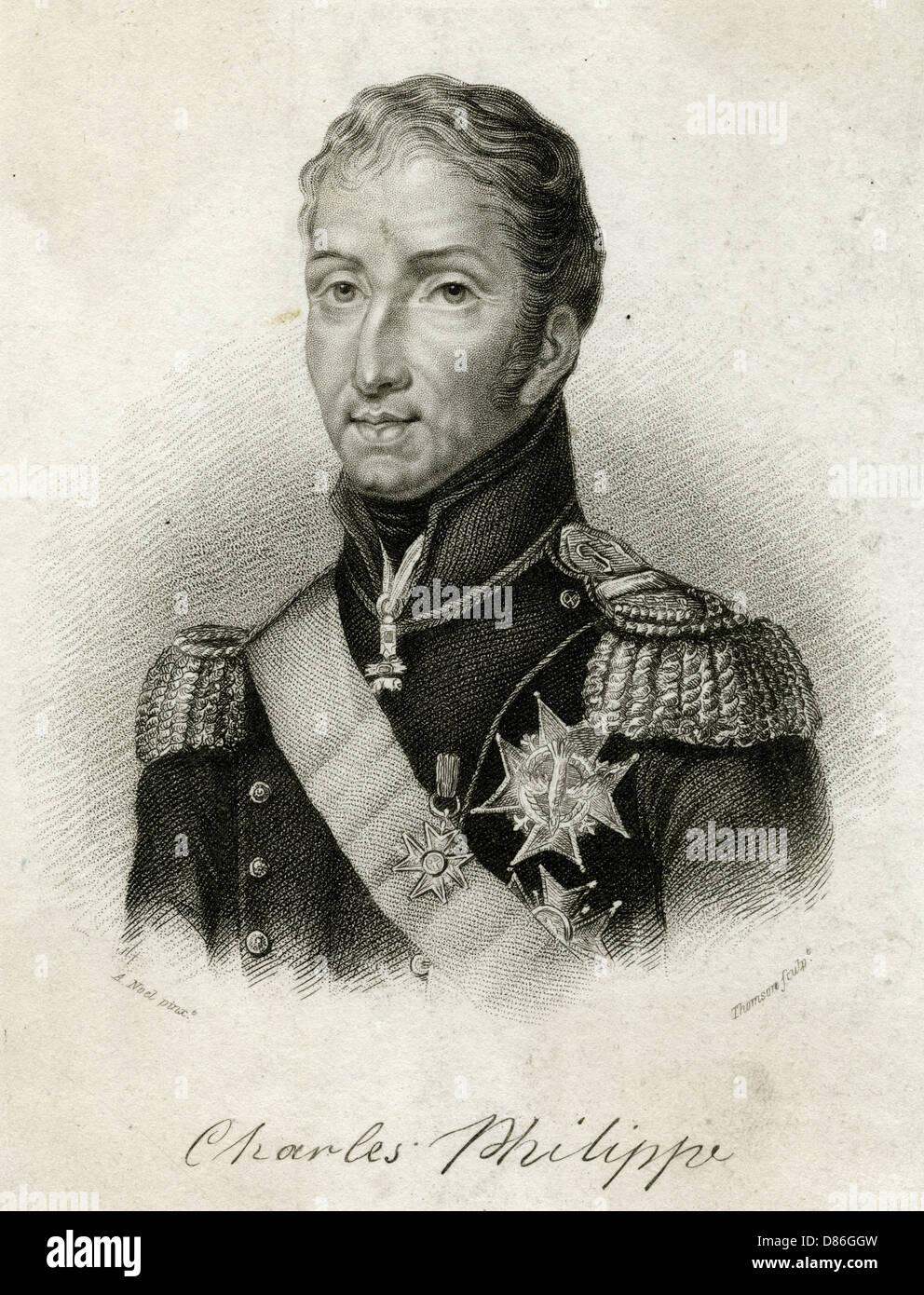 Charles X  French Royal - Stock Image