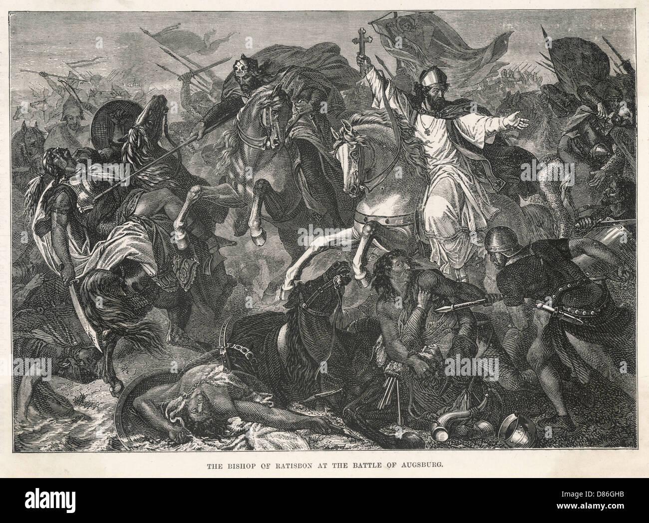 Battle Of Augsburg 900 - Stock Image