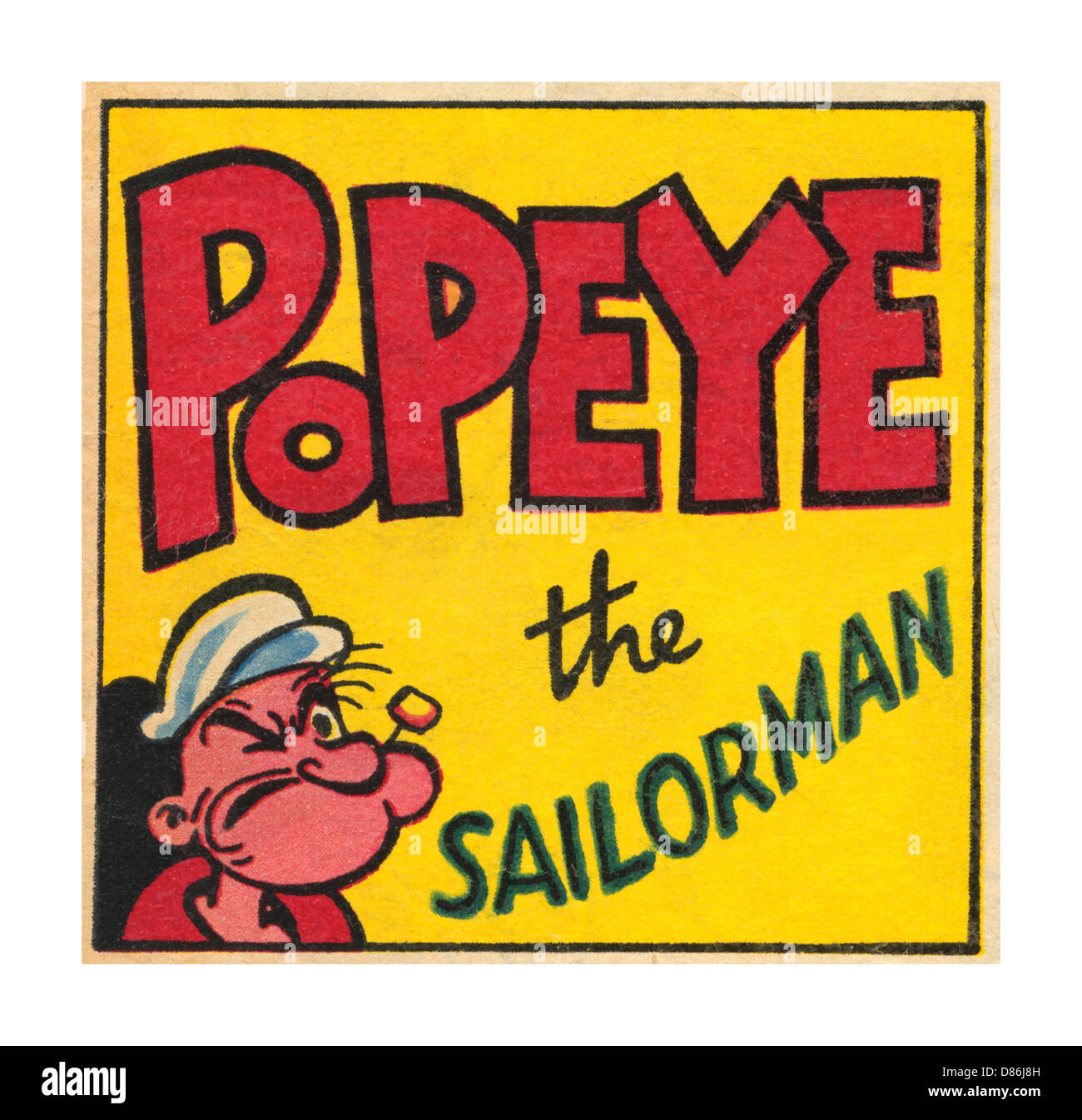 Popeye the Sailor Man is a cartoon comic hero fictional character who has appeared in comic strips and cartoons Stock Photo