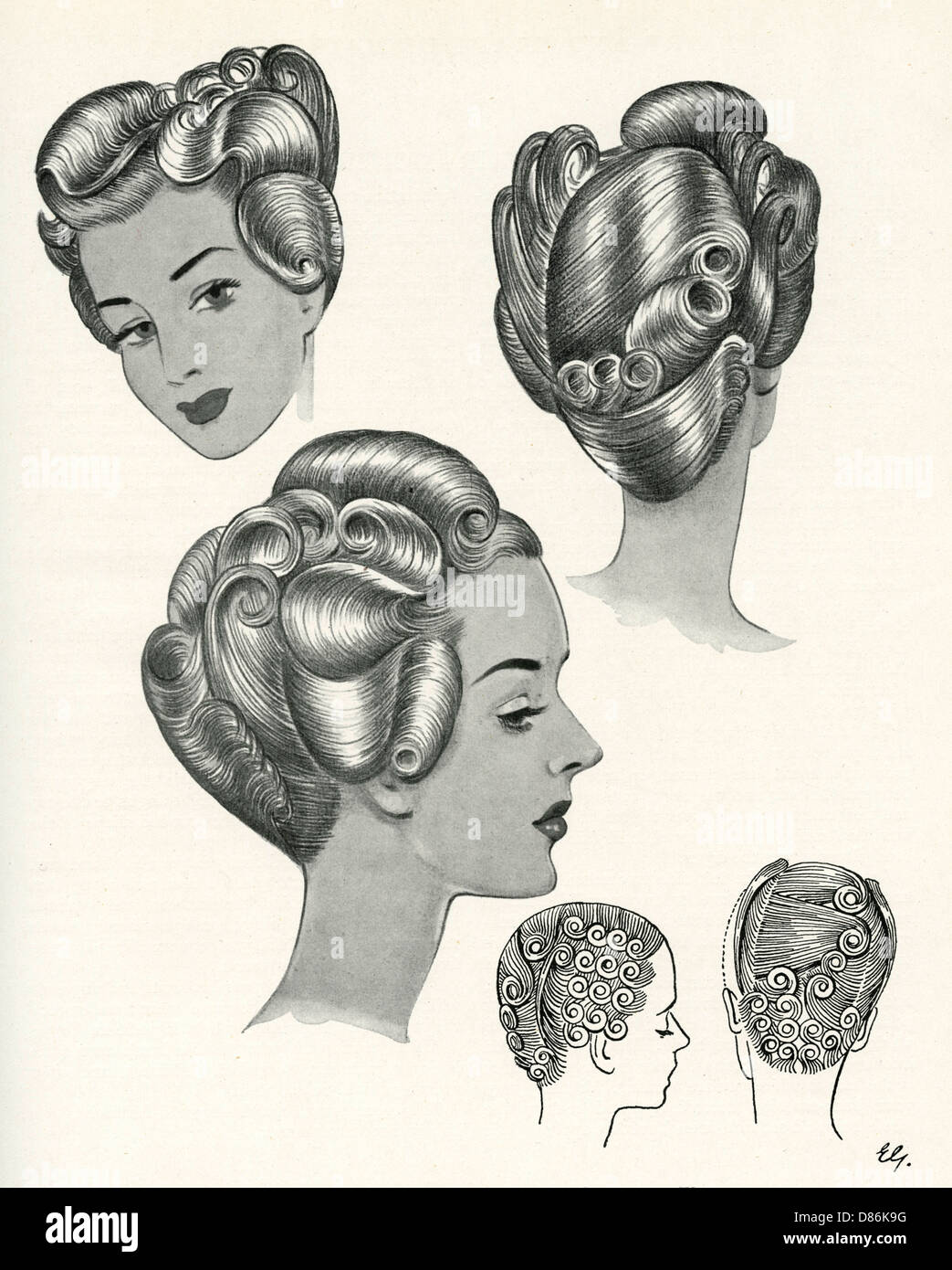 40s Hairstyles Stock Photos 40s Hairstyles Stock Images Alamy