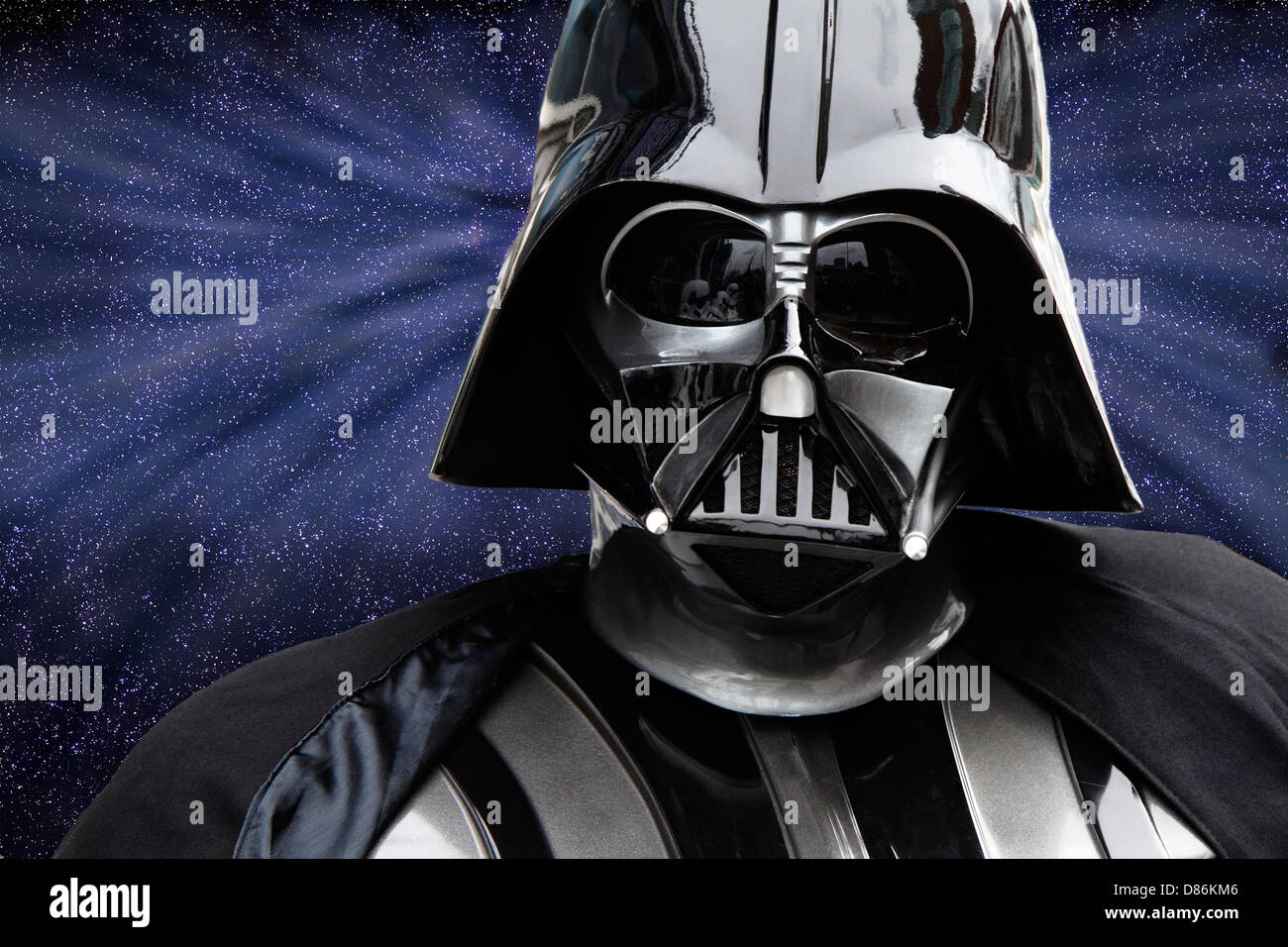 Darth Vader character from Star Wars series of films - Stock Image