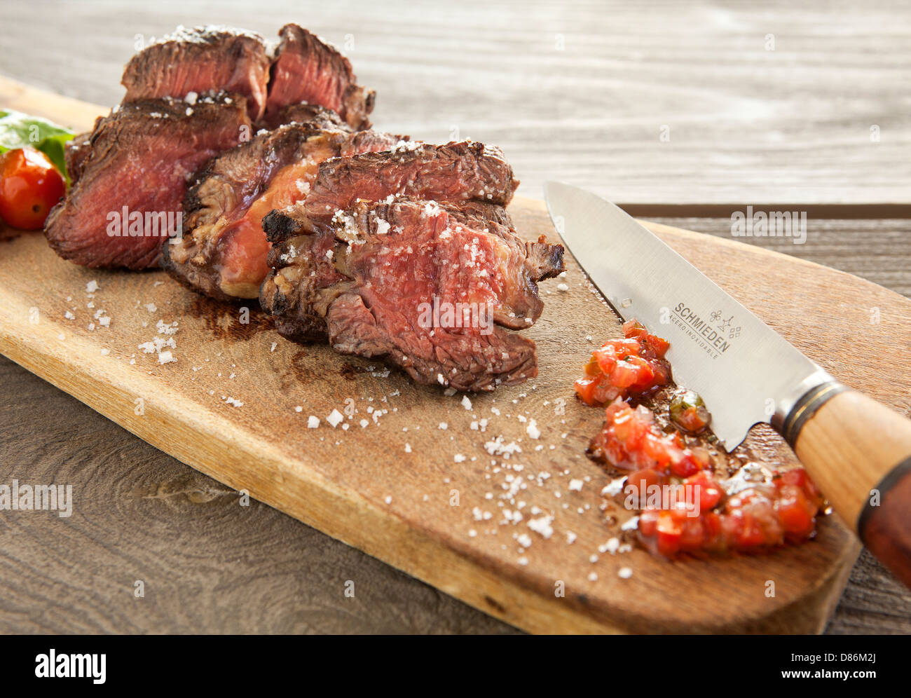 A choice cut of all natural Argentinian beef from the Cavas Wine Lodge Resort in Mendoza, Argentina - Stock Image