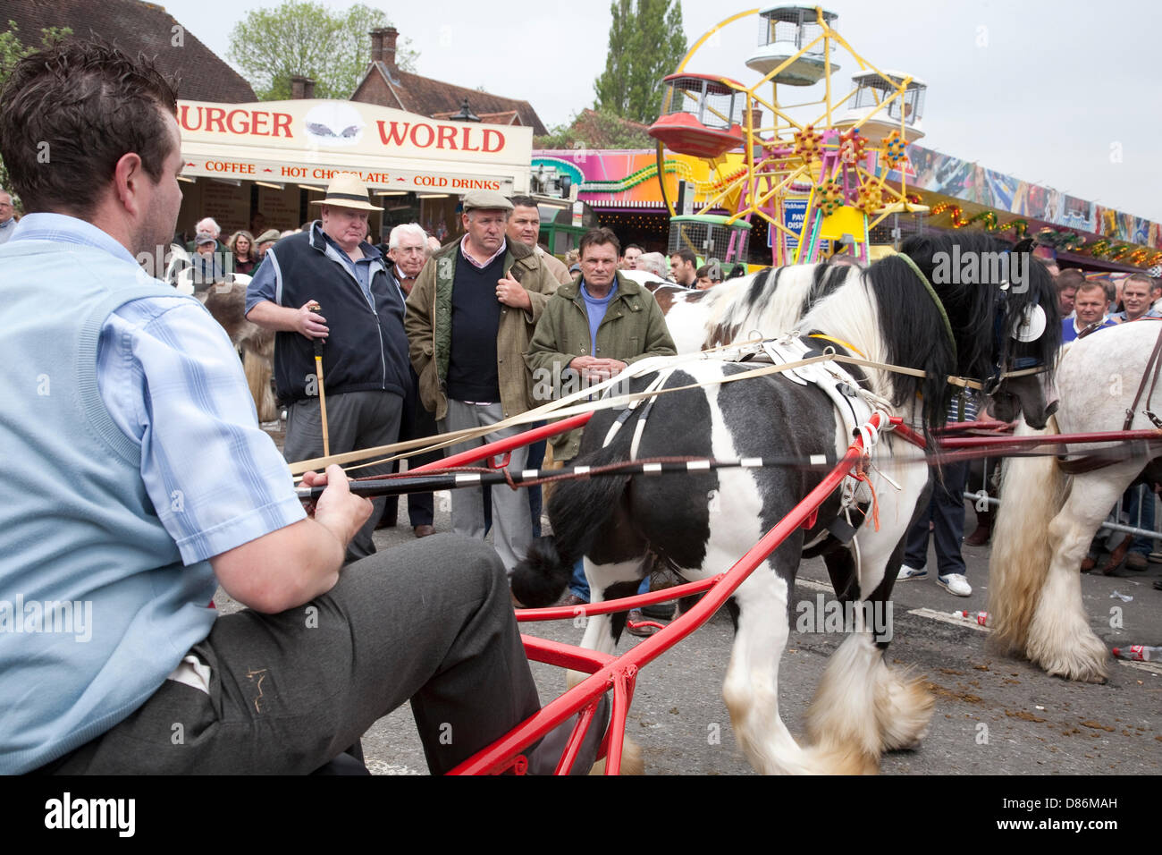 Wickham, Hampshire, UK, 20th May 2013. The historic Wickham Horse Fair takes place in the centre of the town, attacting Stock Photo