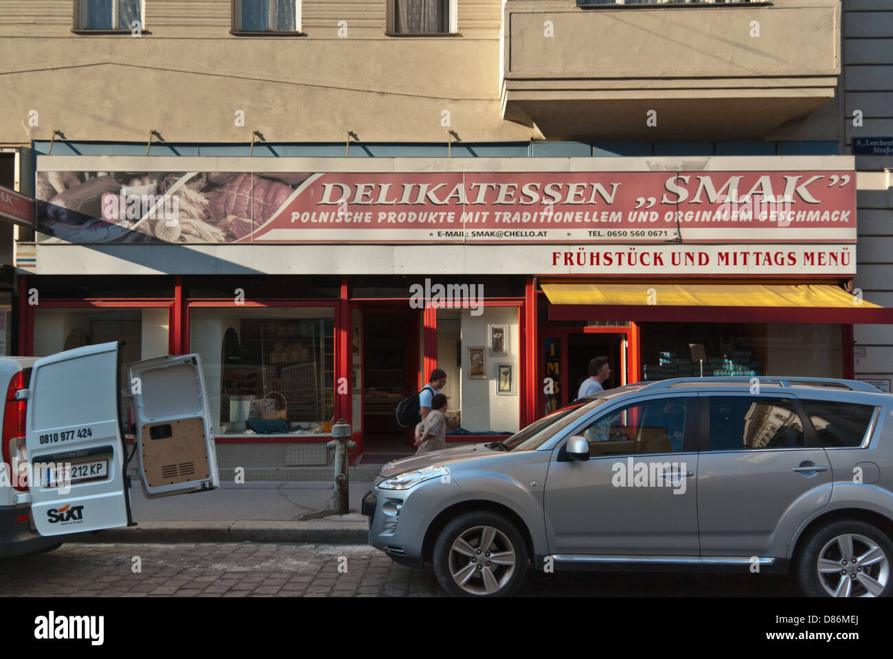 Delikatessen Smak - Polish shop in a centre of Vienna, Austria - Stock Image