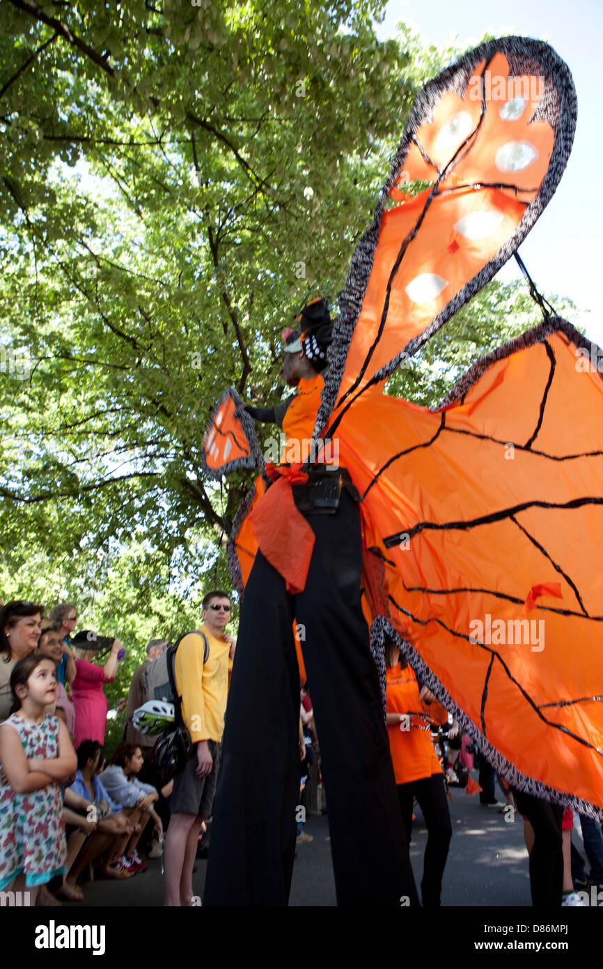 Berlin, Germany. 19th May 2013. Karneval der Kulturen - Annual Carnival and street party in Germany's Capital - Stock Image
