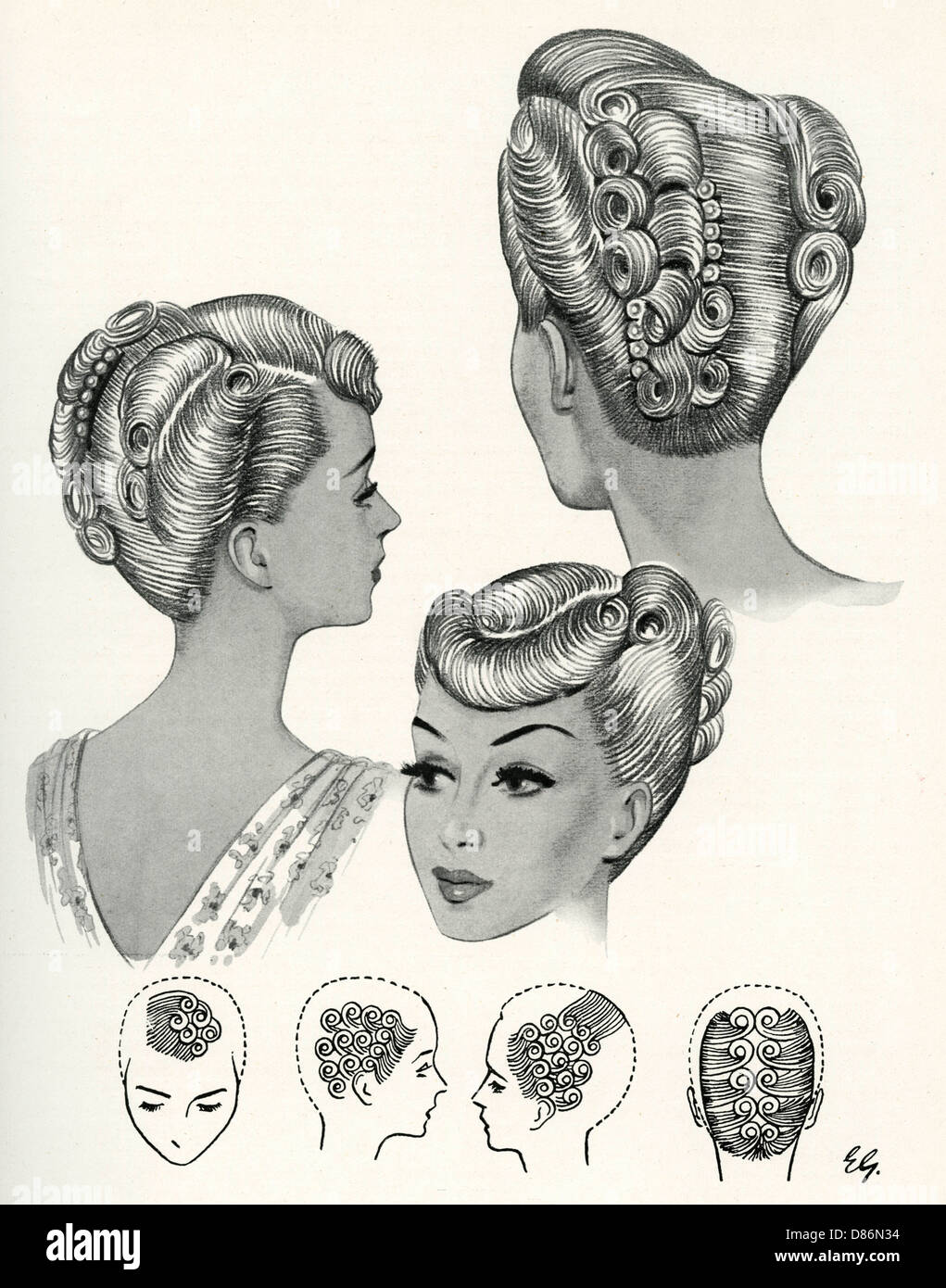 1940s Hairstyles Stock Photos & 1940s Hairstyles Stock Images - Alamy