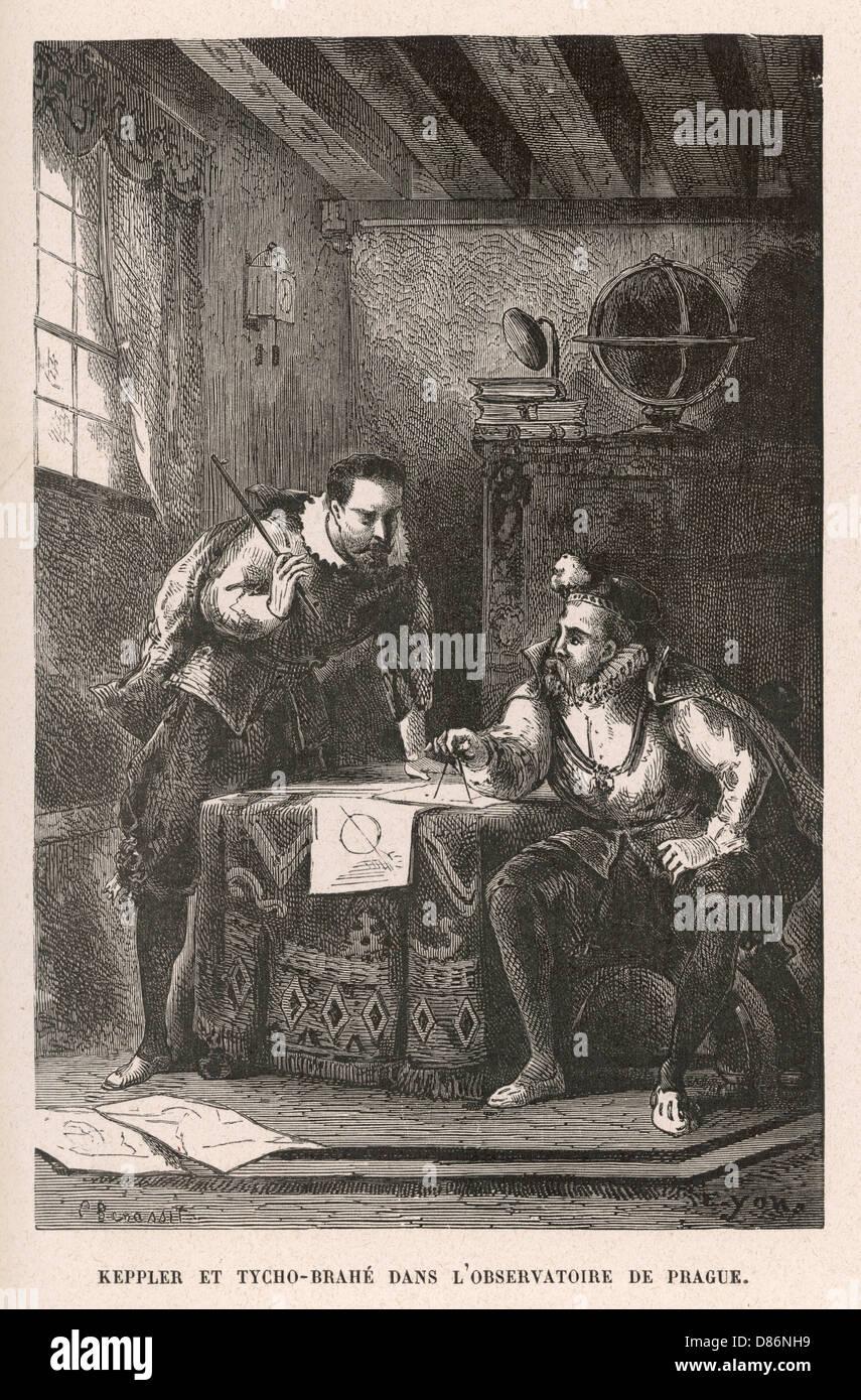 Tycho Brahe Kepler - Stock Image