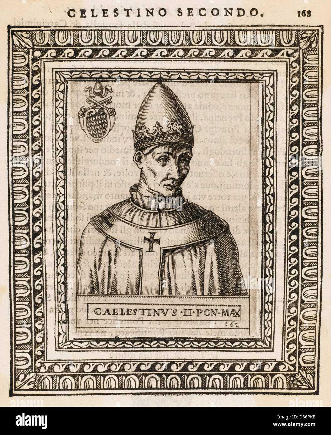 Pope Caelestinus Ii - Stock Image