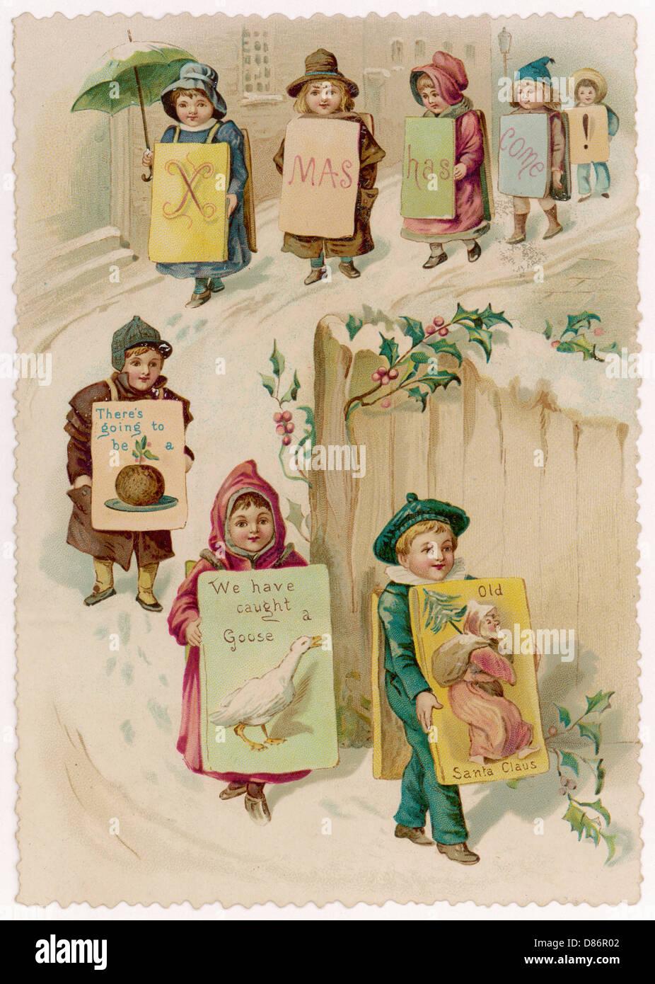 Advertising Christmas - Stock Image