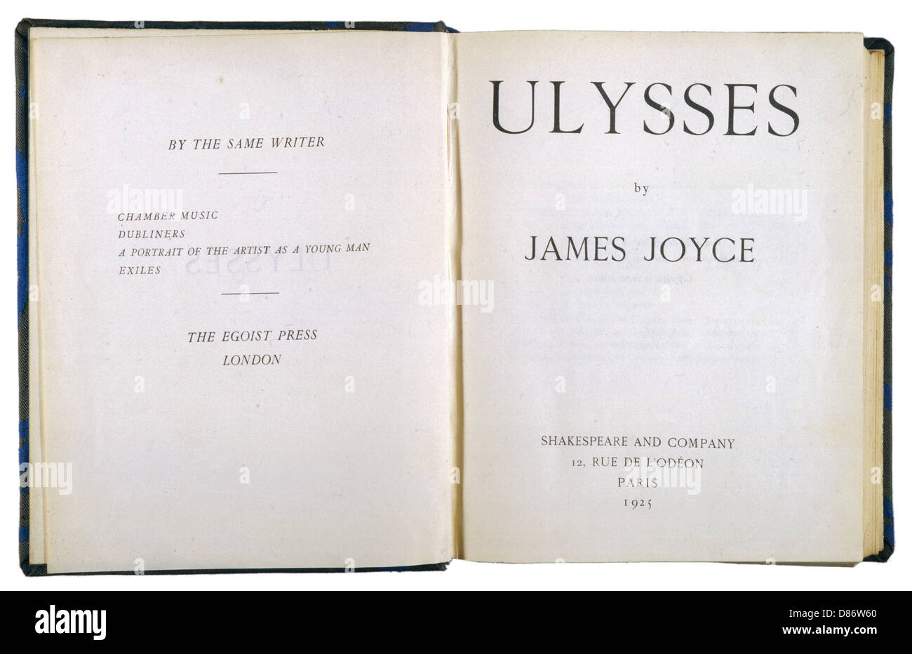 Ulysses James Joyce Stock Photo 56699832 Alamy
