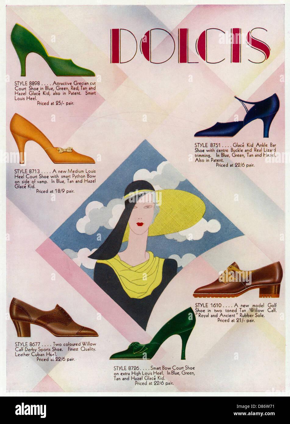 Dolcis Advert 1931 - Stock Image