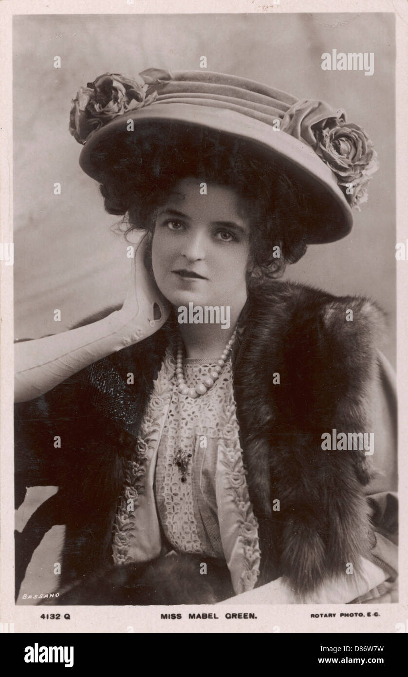 Mabel Green In Hat - Stock Image