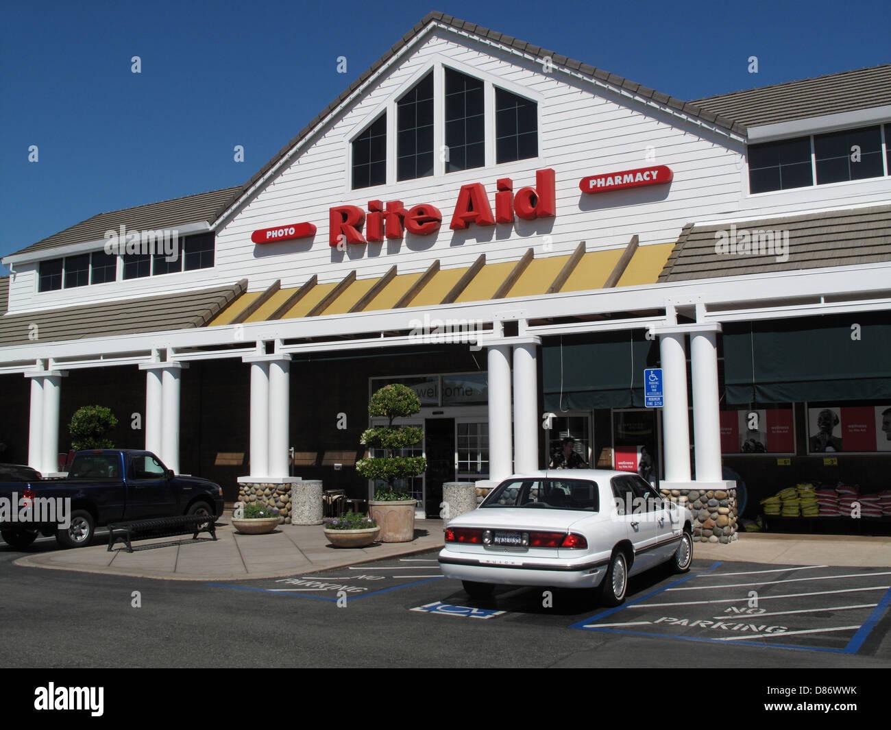Rite Aid Pharmacy in Los Gatos, California - Stock Image