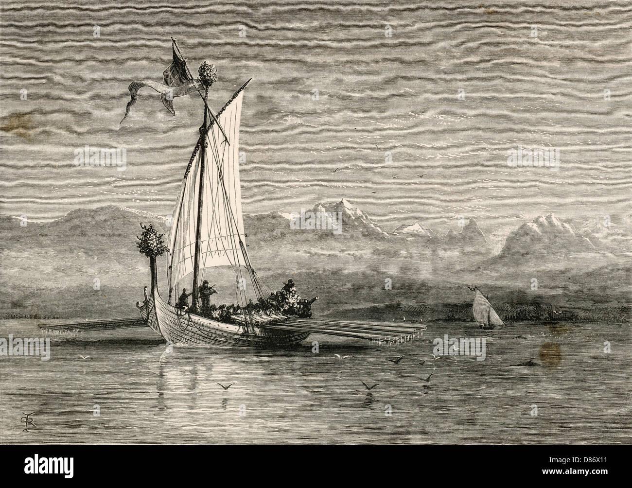 Sailing Ships Viking - Stock Image