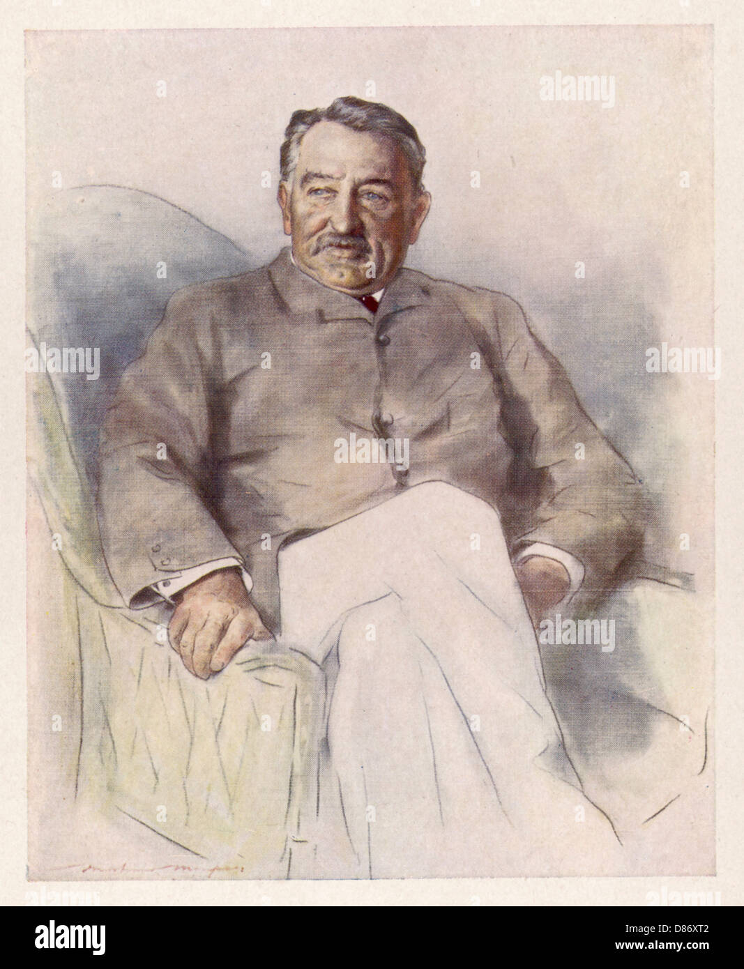 Cecil Rhodes Menpes 1900 - Stock Image