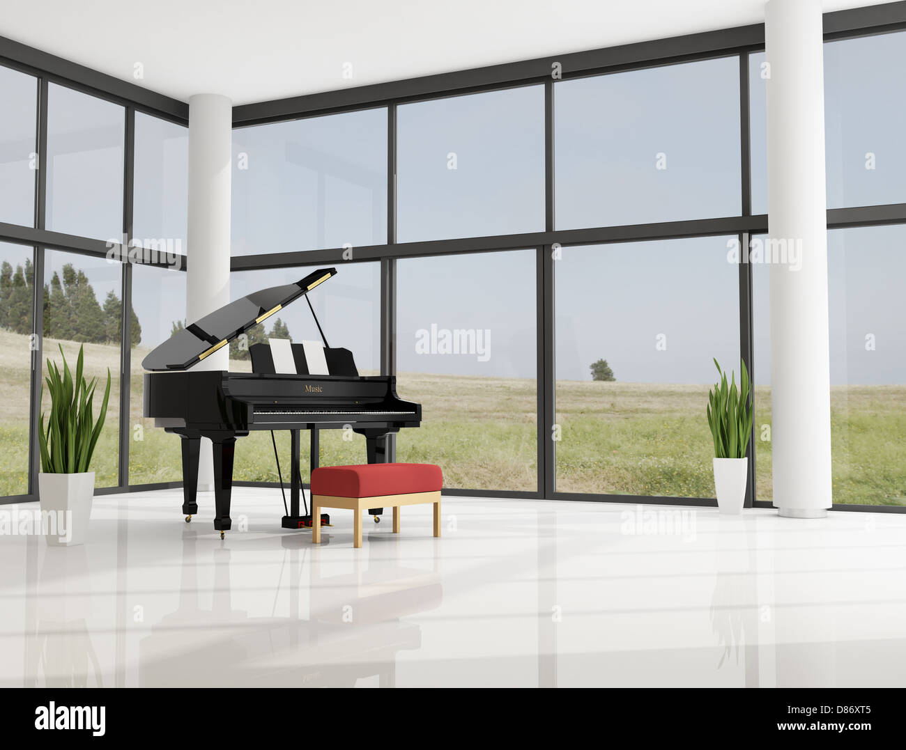 Grand Piano In Living Room Stock Photos & Grand Piano In Living Room ...