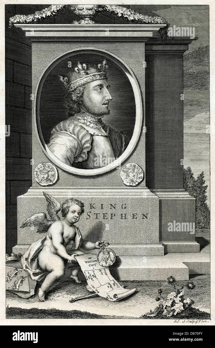 King Stephen Vertue - Stock Image