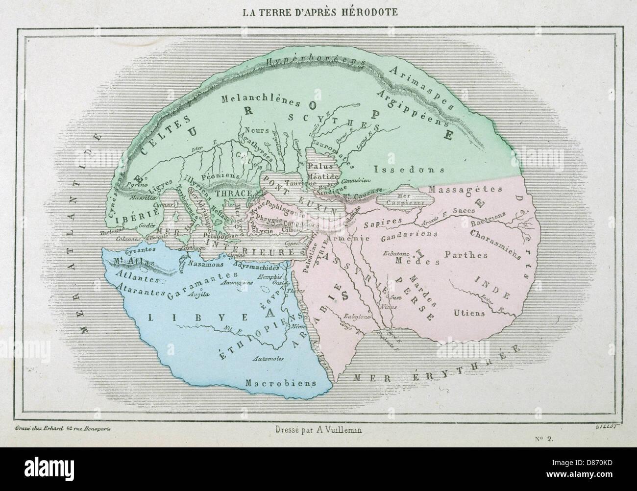 Maps World Herodotus - Stock Image