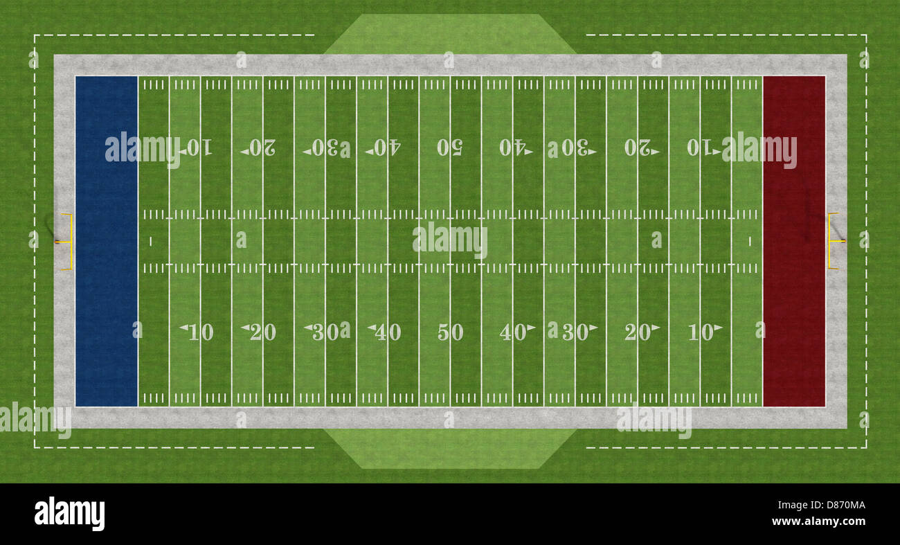 top view of an american football field rendering stock photo 56702586 alamy. Black Bedroom Furniture Sets. Home Design Ideas