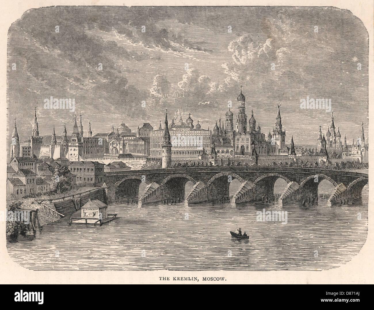 Kremlin 1879 - Stock Image