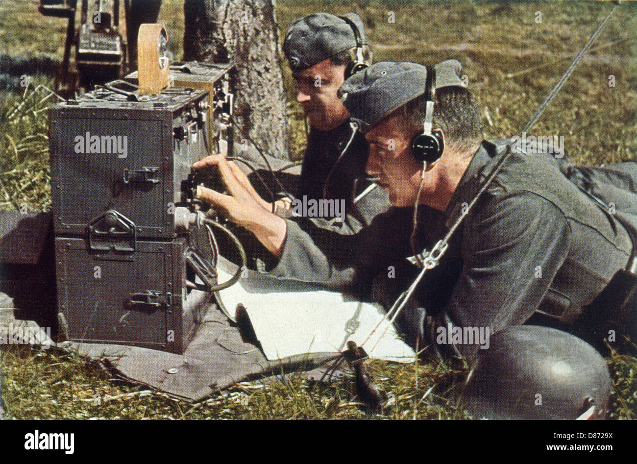 Image result for ww2 listening for radio transmissions from the enemy