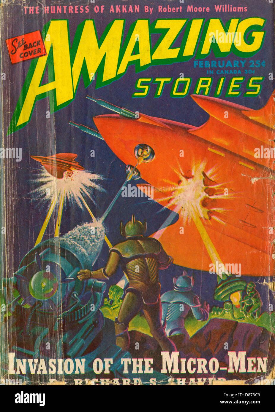 Micro Men Invasion 1946 - Stock Image