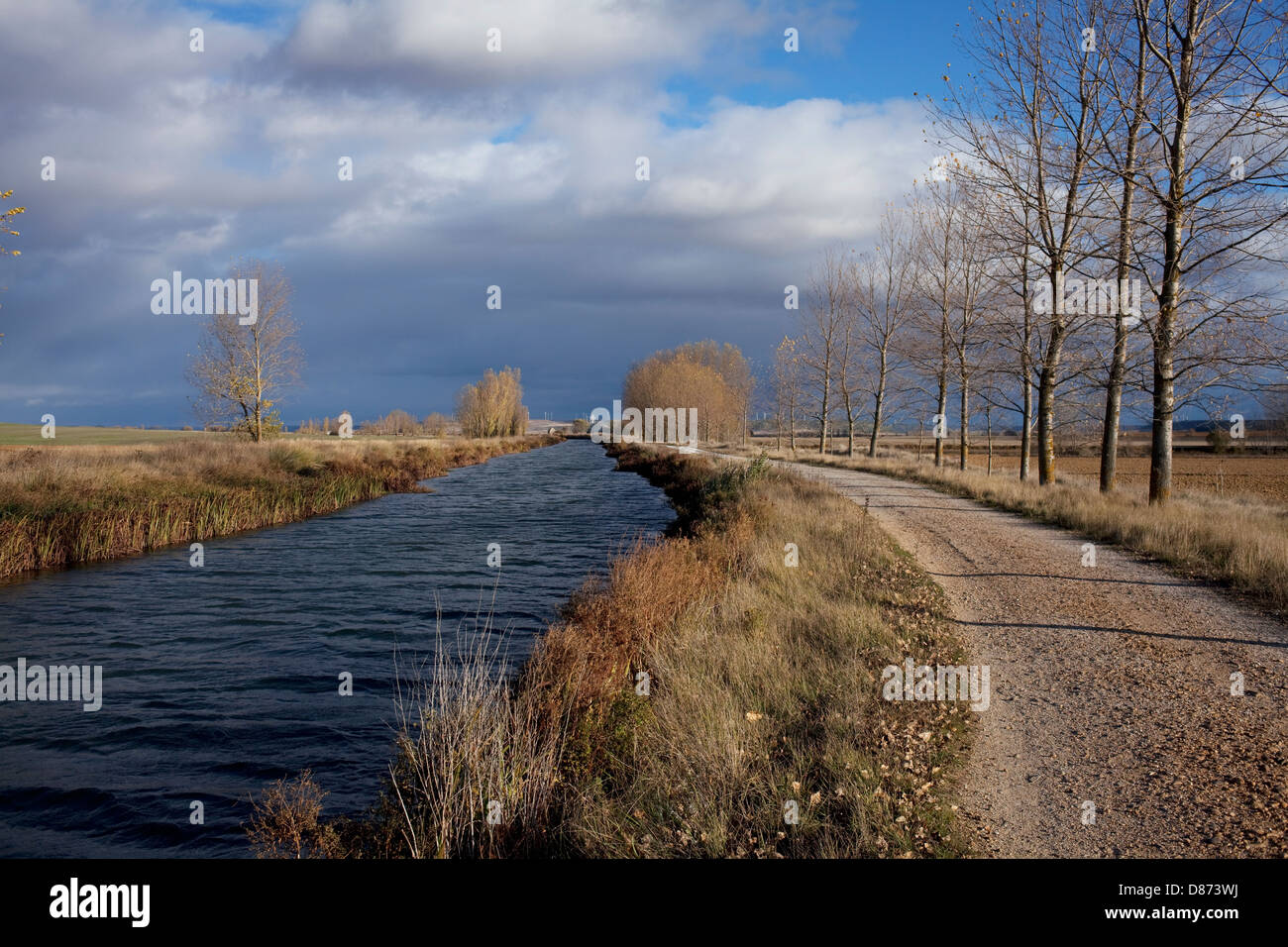 Canal of Castilla along the Way of St. James - Stock Image