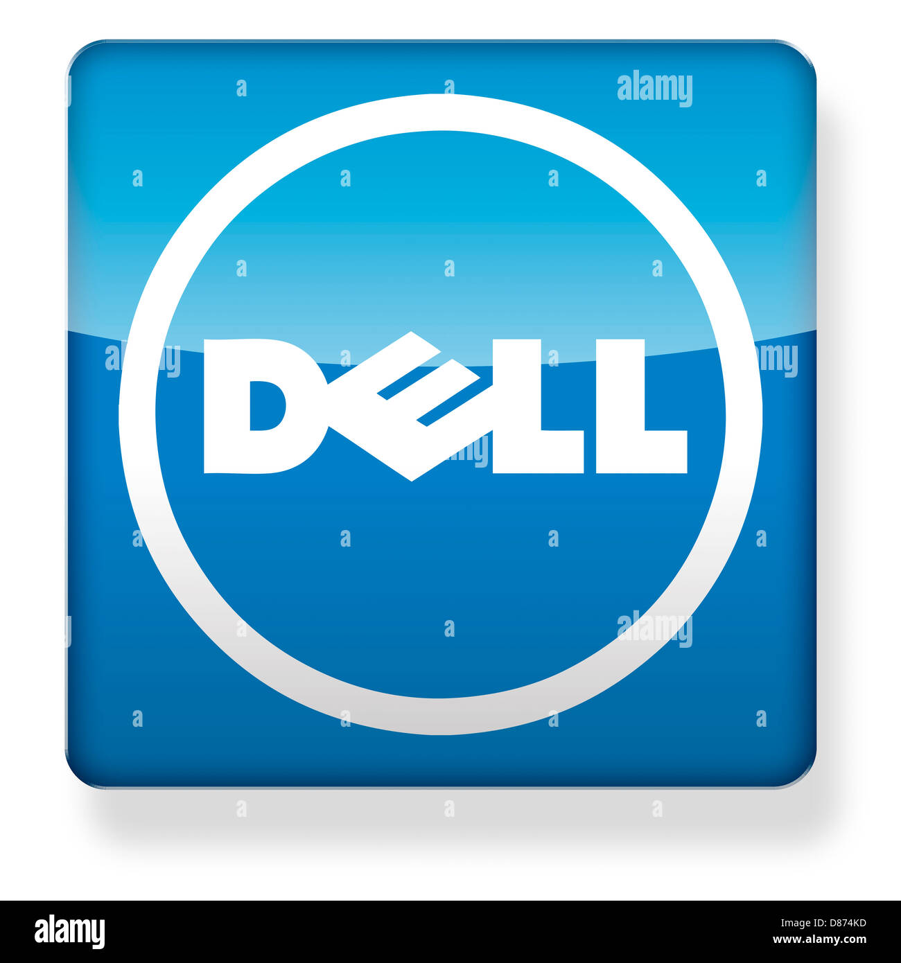 dell logo as an app icon clipping path included stock photo 56705697 alamy. Black Bedroom Furniture Sets. Home Design Ideas