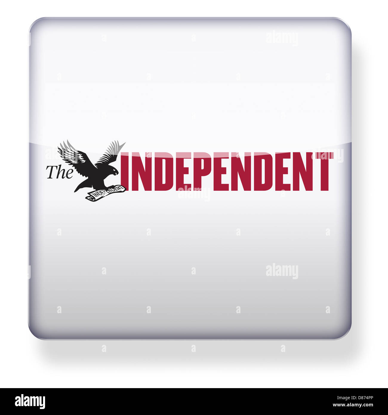 The Independent logo as an app icon. Clipping path included. - Stock Image