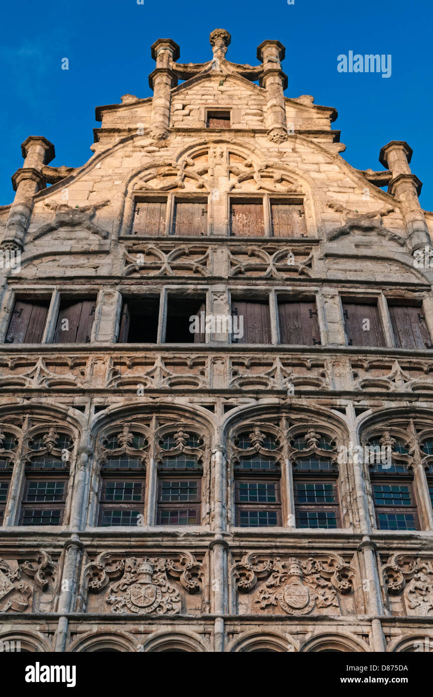 Guild house of the Free Boatmen Graslei Ghent Belgium - Stock Image